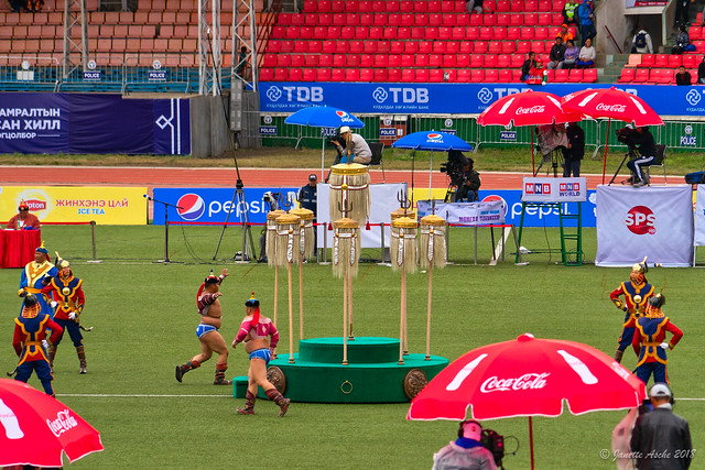 Naadam wrestling - victory run