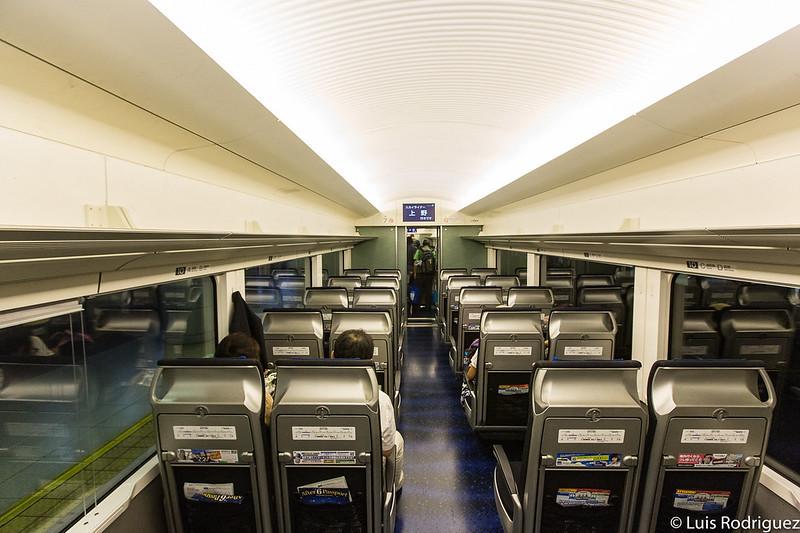 Interior del Keisei Skyliner