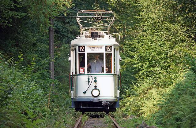 Walk in forest with the tram / Spaziergang in Wald mit der Straßenbahn 🇩🇪 / Promenade en forêt avec le tramway.