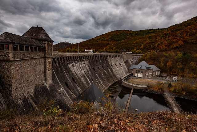 Eder Dam With Water Power Station