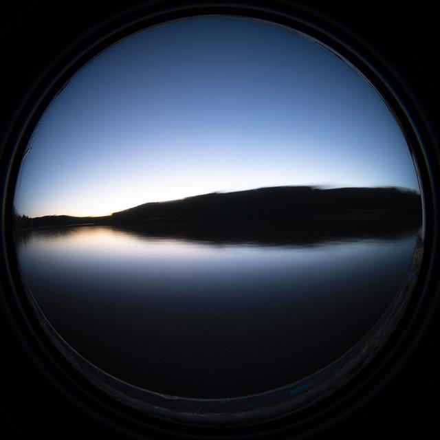 A Rock River Sunset