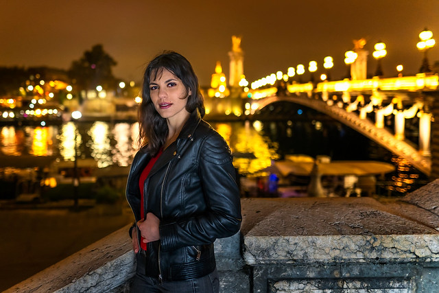 Nathalia at the Pont Alexandre III in Paris