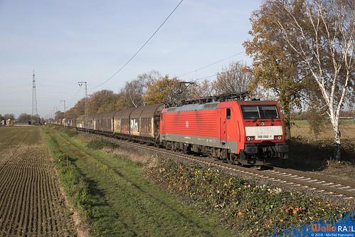 189 082 DB Cargo . Dülken . 14.11.18 .