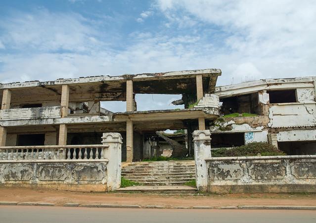 Bombed house of Jonas Savimbi, Huambo Province, Huambo, Angola
