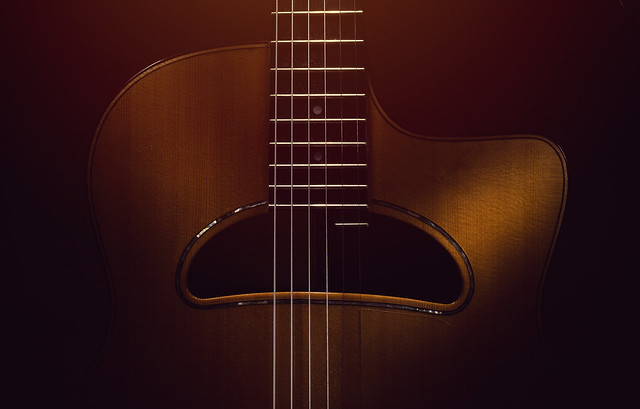 Old Gypsy Acoustic Guitar