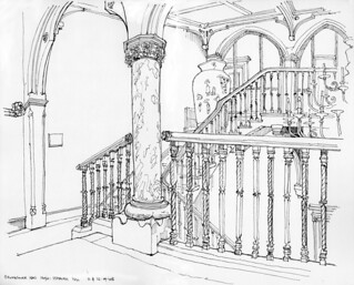 Staircase Hall, Brownsover Hall Hotel, Brownsover, Rugby | by Blue York
