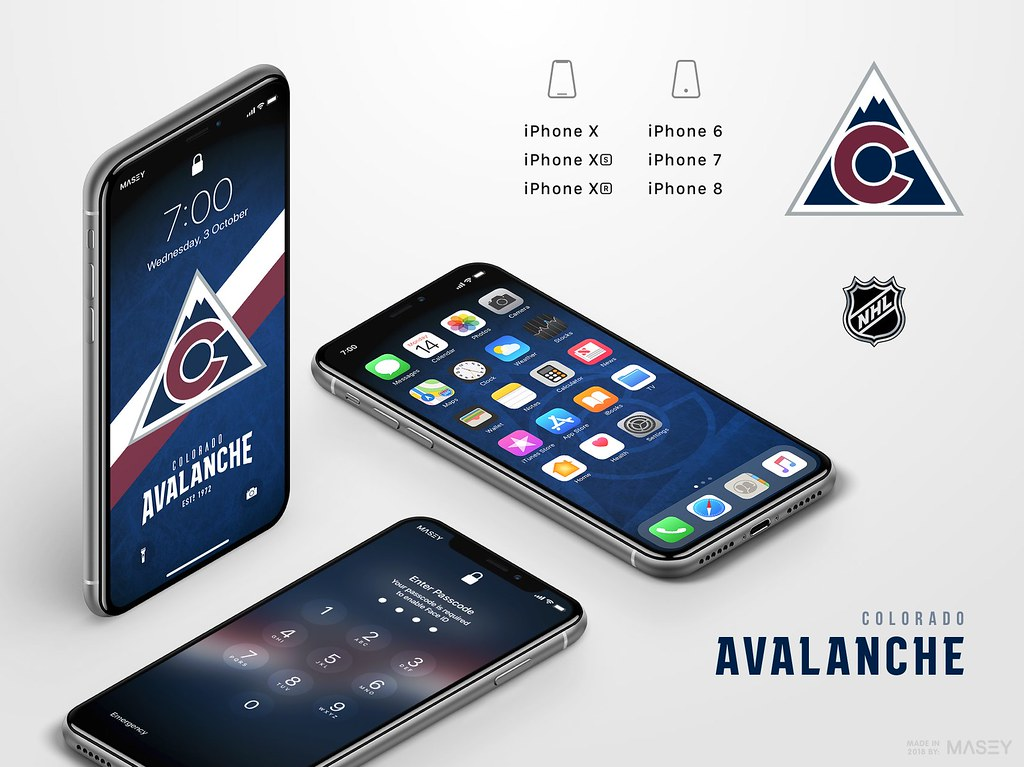 Colorado Avalanche iPhone Wallpaper