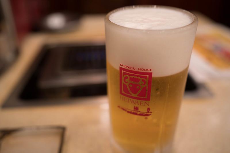 焼肉平和園ビール