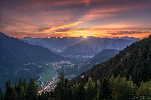 achbergeralm aftersunset austria envening eveningglow forest imst larch larchtrees lights meadows mountainglow mountainrange oetz outdoor pink river sunset town valley village yellow alps austrianalps fir firtree gloe lake lakepipurg mountains nature oetztalerache tirol trees tyrol at