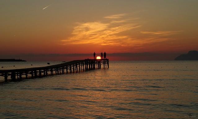 Alcudia majorca spain beach sunrise sept 2018  (25)