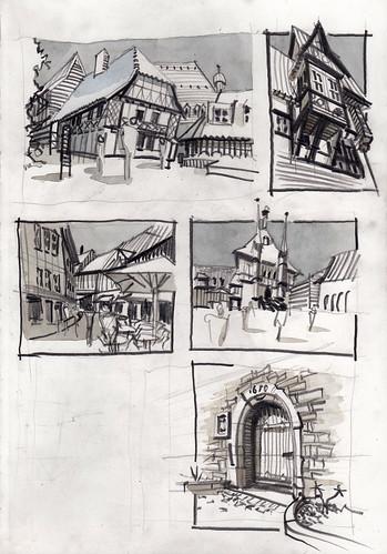 Wernigerode Schnellskizzen / Fast Sketches