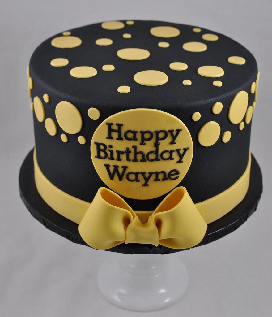 Swell Polka Dot Birthday Cake Jenny Wenny Flickr Funny Birthday Cards Online Necthendildamsfinfo