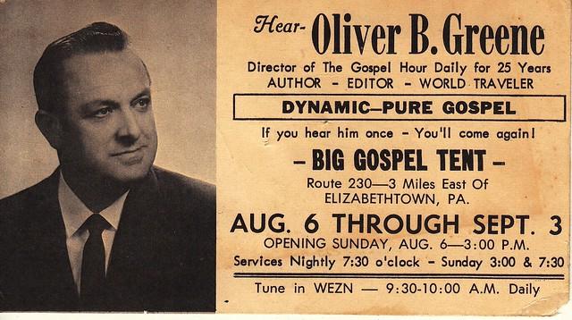 Oliver Greene - Tent Evangelist