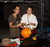 "The University of Hawaii at Manoa's School of Architecture courtyard was transformed with giant cotton spiderwebs, orange fluorescent string lights and thumping Halloween music on October 19, as members of the American Institute of Architecture Students invited the public to its annual Pumpkin Esquisse, ""Creatures of the Depths.""  (Photos courtesy of the School of Architecture)"
