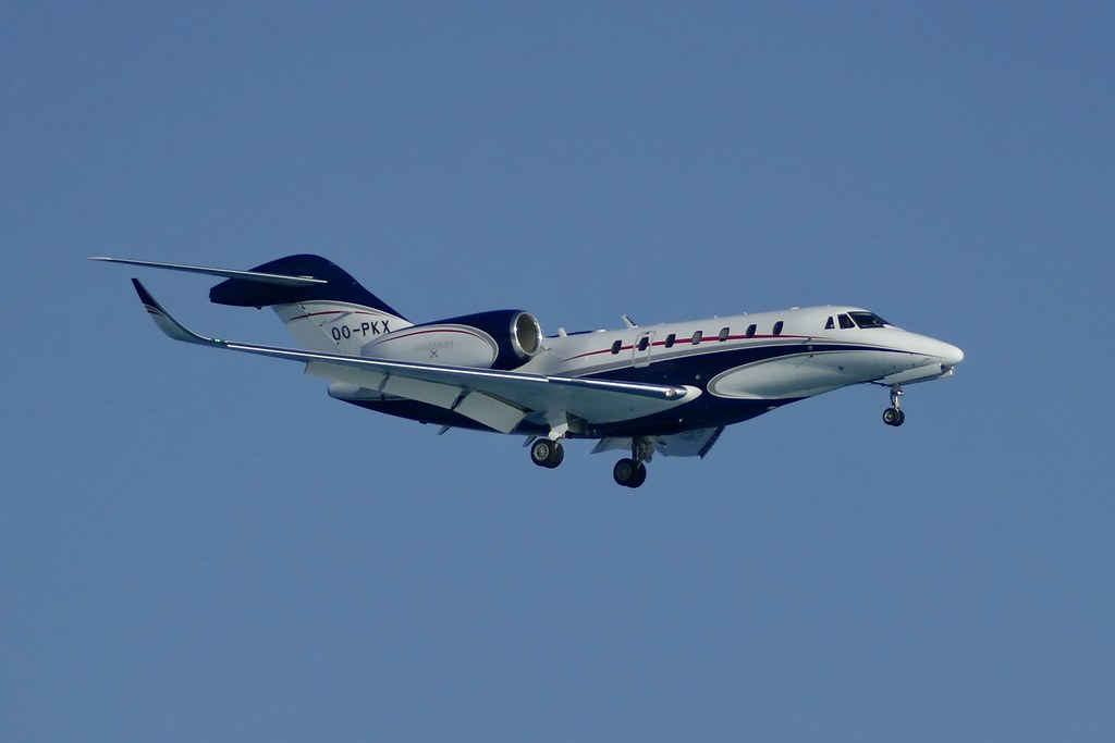 Cessna 750 Citation X Oo Pkx Appraoching Nce Nice Airport Flickr