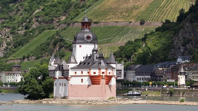 Trip on river Rhein with beautiful views