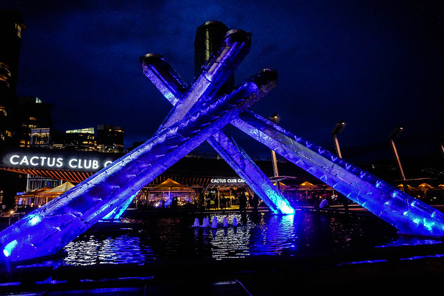 The 2010 Olympic Cauldron at Night