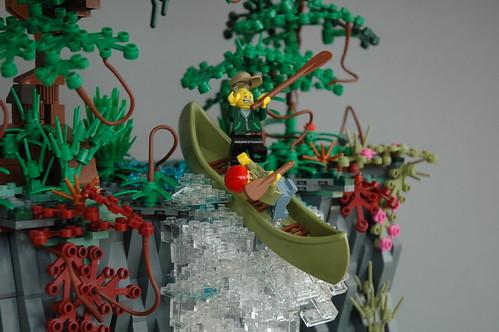 Adventure at the waterfall - AFOL vs AFOL 2018 - closeup