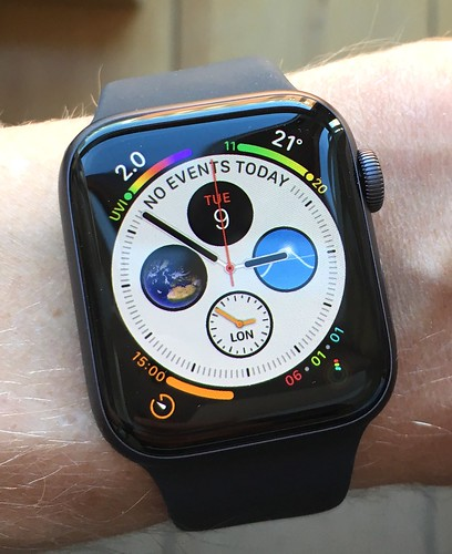 Photo of the Apple Watch's default face