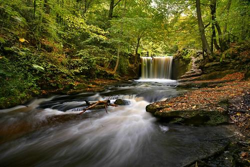 nantmill coedpoeth wrexham wales waterfall autumn fall clywedogriver