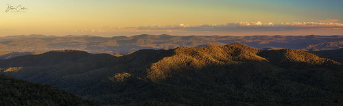 mtpisgah northcarolina blue ridge mountains pano panorama light sunset evening late blueridgemountains