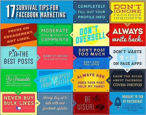 The 17 Survival Tips for Facebook Marketing - these are brilliant! #SmallBusiness #Marketing #SocialMedia #WebDesign #Business #SEO #digitalmarketing #google #EmailMarketing #viralmarketing #SEM #onlinemaketing @consult_london