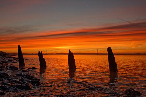 sunrise hdr humber landscape estuary northbank shoreline foreshore