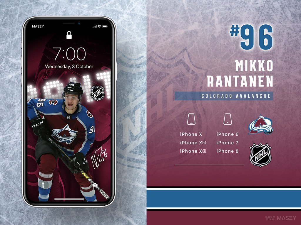 Mikko Rantanen (Colorado Avalanche) iPhone Wallpaper