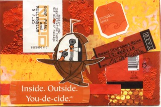 orange monochrome collage