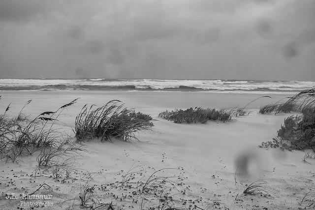 Tropical Storm Gordon - Gulf Islands National Seashore (B&W)