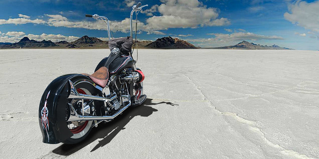 A Day at the Salt Flats - 96 custom Harley - (In Explore)