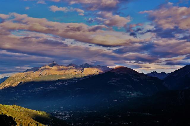 Veduta da Vens ( Val d'Aosta)