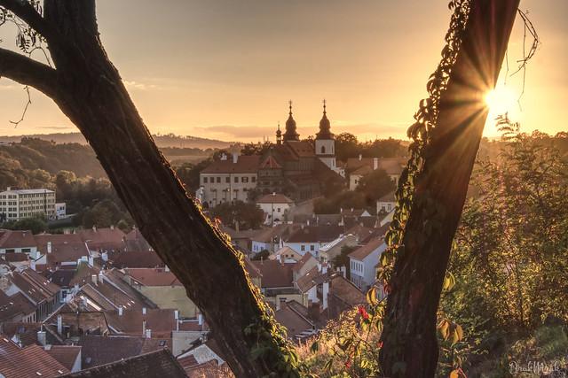 Chateau Třebíč - sunset