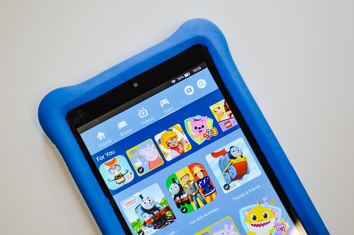 Kindle Fire Kids Edition - Blue - Close Up | by eduprintsplus