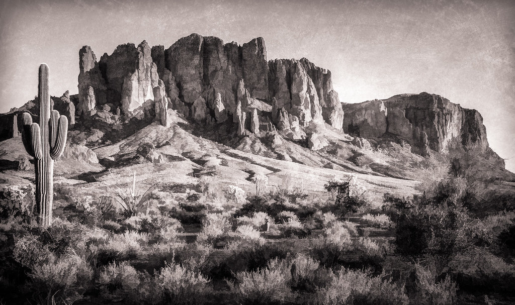 a8dff002f Superstition Mountain - Textured | Superstition Mountain, ea… | Flickr