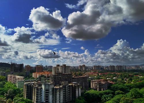 debmalyamukherjee motog5splus mobilephotography anushaktinagar mumbai bluesky clouds cloudscape landscape