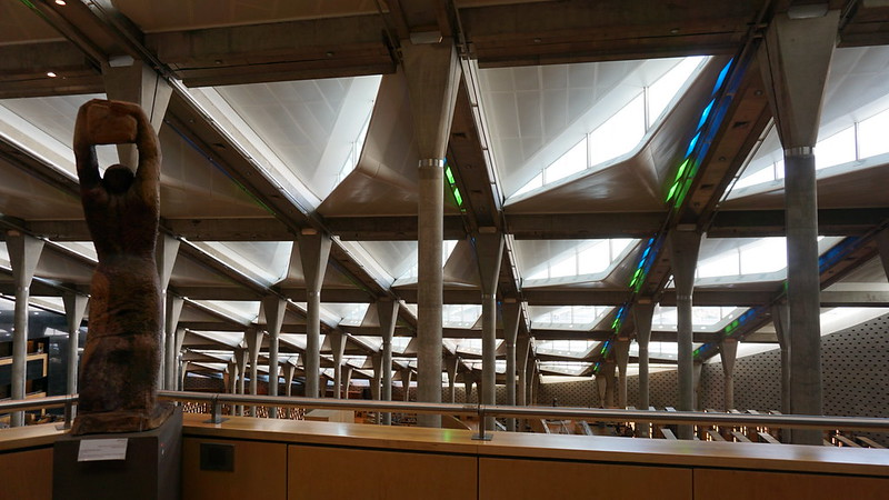 Hulla Hoop by Mohamed El-Sayed El-Allawy, the Main Reading Room, the Bibliotheca Alexandrina, the Mediterranean, Egypt.