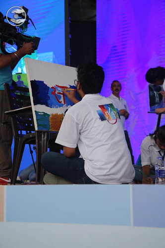 Youth Participating in Painting on Theme: Grievance to Gratitude