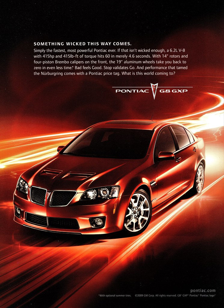 2009 Pontiac G8 GXP   One of the last Pontiac ads    Alden