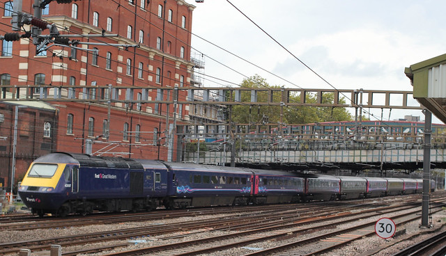 First Great Western . 43097 . Passing Royal Oak LUL Station  , West London .