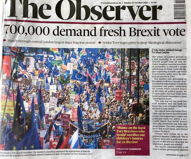 700,000 march in London streets calling for People's Vote on Brexit deal
