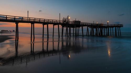 sunrise dawn margate margatecity newjersey jerseyshore fishingpier beach