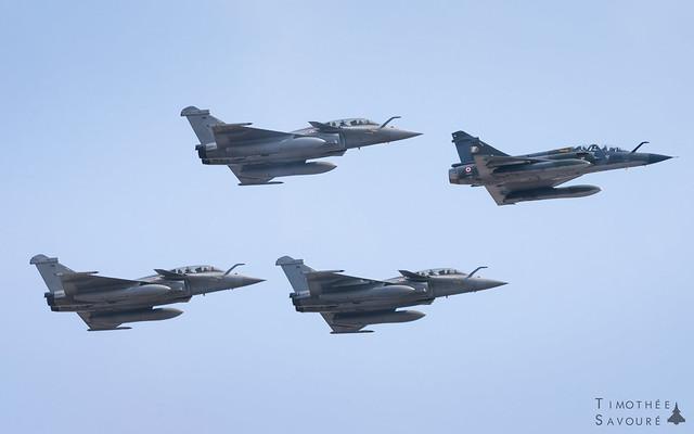 Bastille Day   Armée de l'Air Dassault fighters