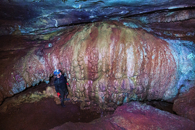 Eric schoonover, false color, Howards Waterfall Cave, Southeastern Cave Conservancy Preserve, Dade County, Georgia