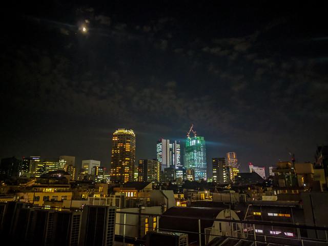 #291 Shibuya lights & moon