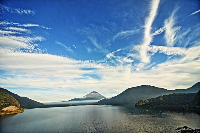 Lake Motosuko and Mount Fuji