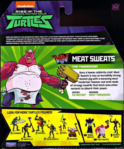 Nickelodeon  RISE of The TEENAGE MUTANT NINJA TURTLES :: MEAT SWEATS ..card backer ii (( 2018 )) [[ Standard U.S. release ]] by tOkKa