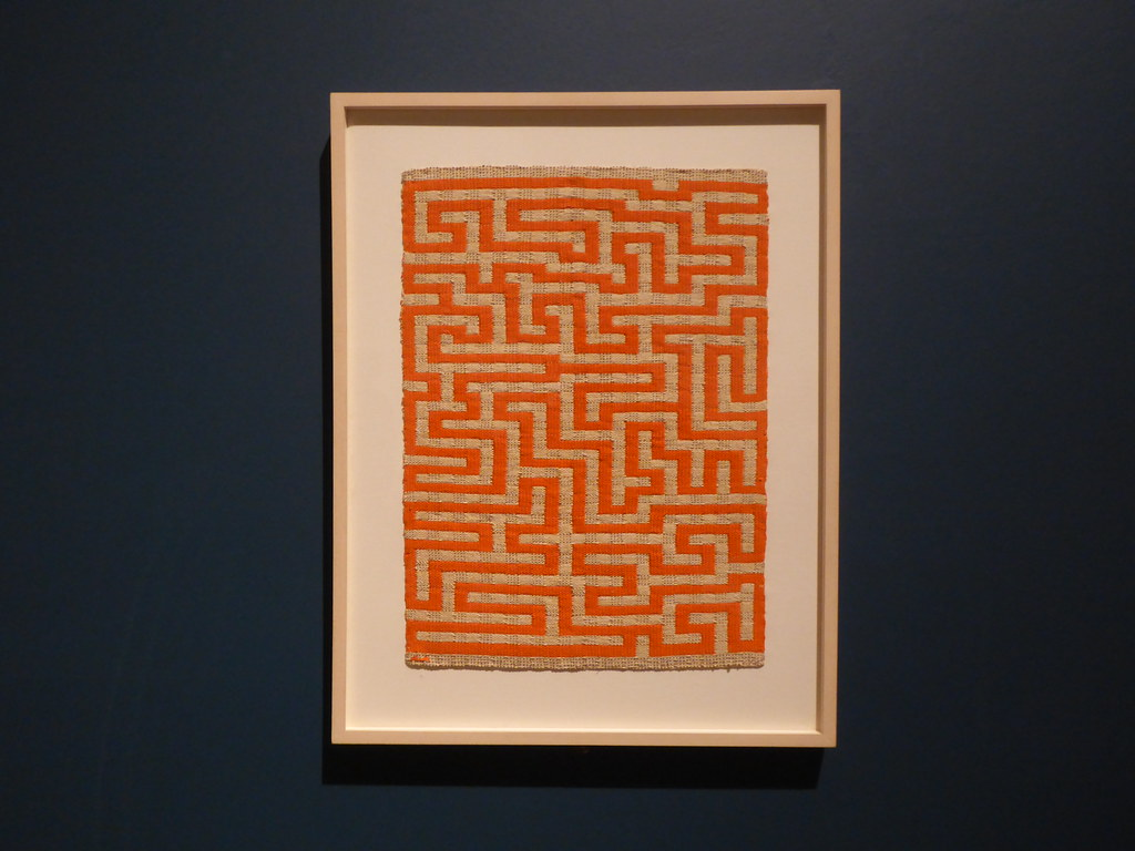 Anni Albers, Red Meander, 1954. On display as part of the Anni Albers exhibition at Tate Modern in 2018-2019