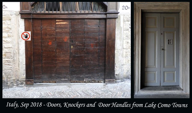 ITALY SEP 2018 - Lake Como Doors and Knockers (74 & 77)