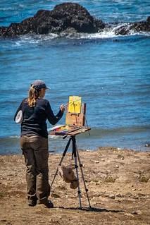 Painters on Pescadero State Beach 4   by CDay DaytimeStudios w /1 Million views
